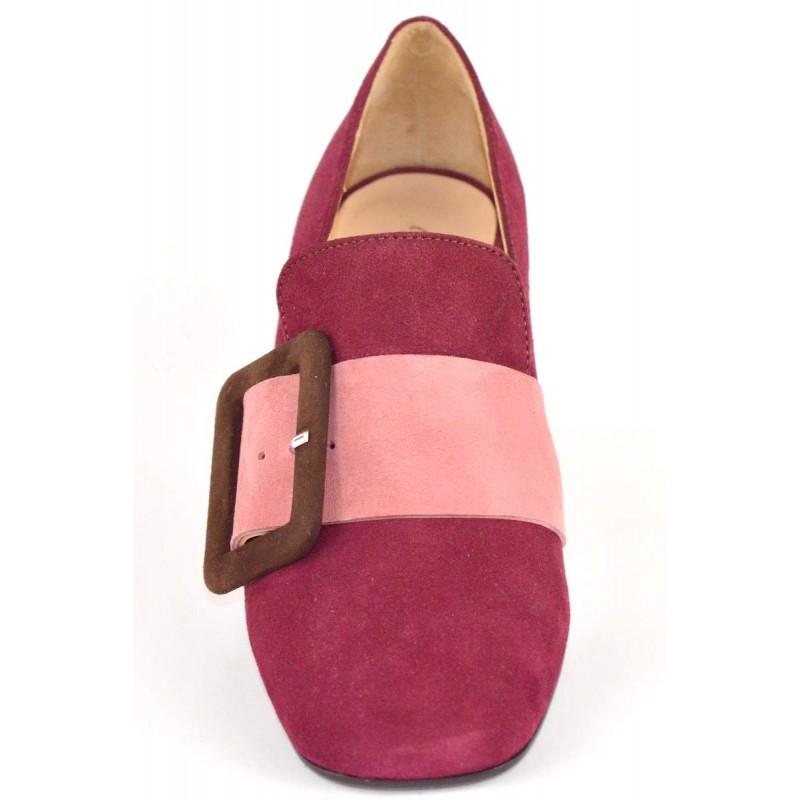 Marie elodie Pantofola Fibbia Bordo` Fondo cuoio