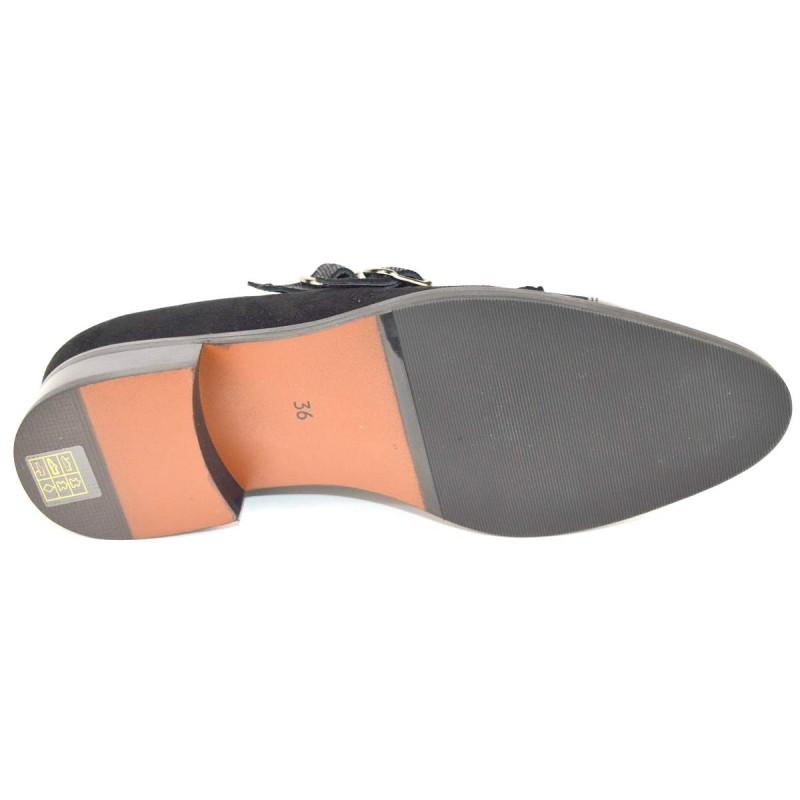 Altariva Pantofola 2 fibbie Nero