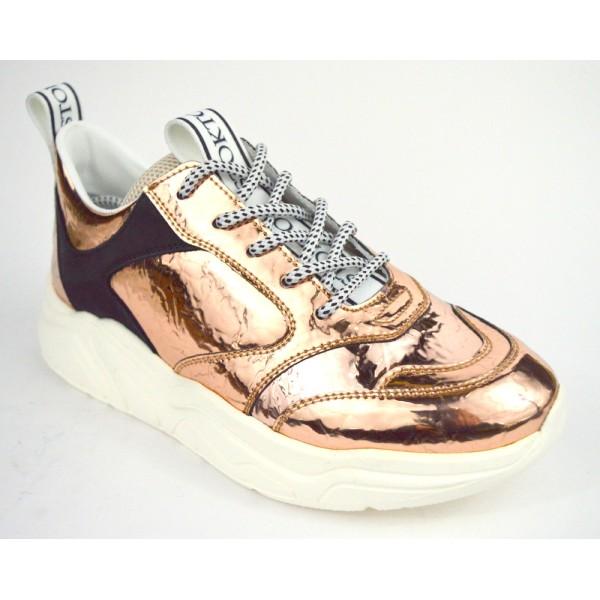 Stokton Sneakers Metallizzato Bronzo Fondo gomma