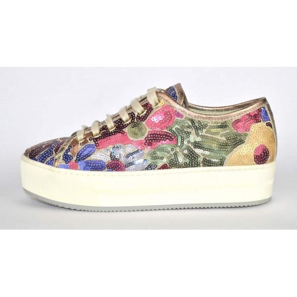 Stokton Sneakers Multicolore Fondo alto Multicolore Fondo gomma