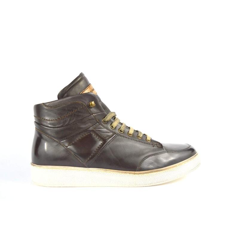 Calpierre Sneakers Alto Testa di moro Fondo gomma