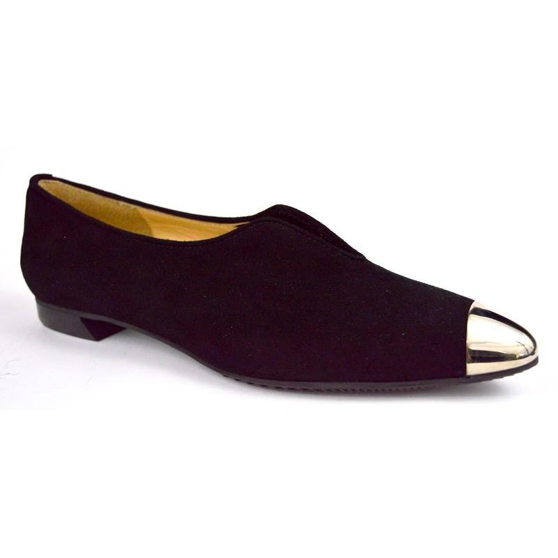 Brunate Pantofola Puntale Oro Nero Fondo gomma
