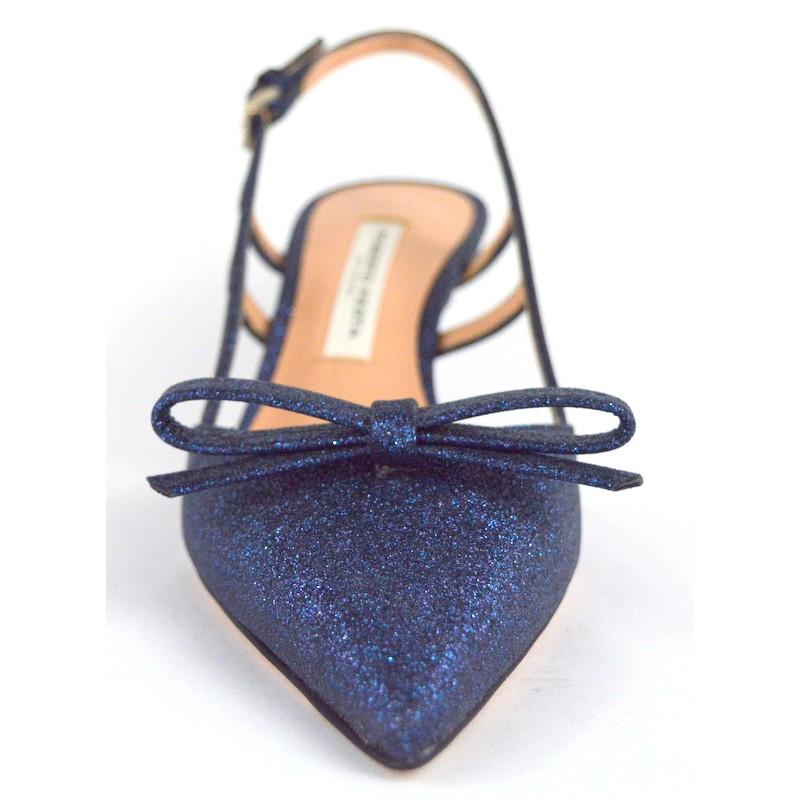 Roberto festa Chanel Glitter Blu Fondo cuoio