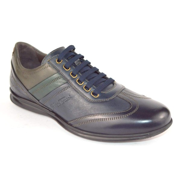 Galizio torresi Sneakers Blu+verde+grigio Fondo gomma