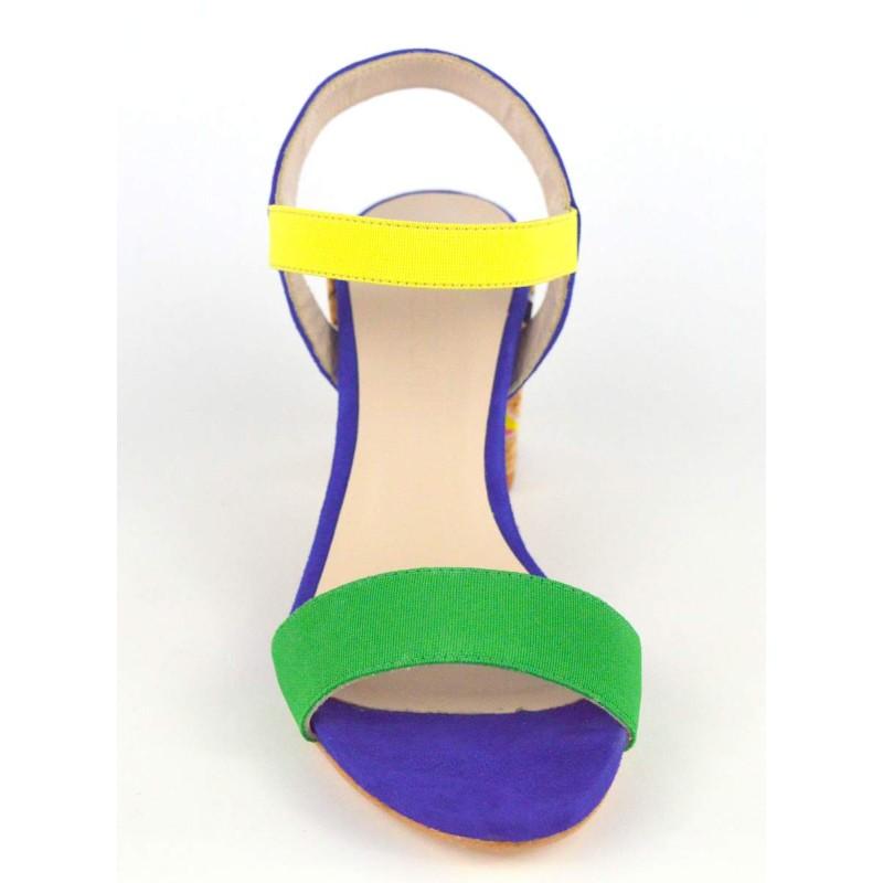 Ancarani Sandali Multicolore Fondo cuoio