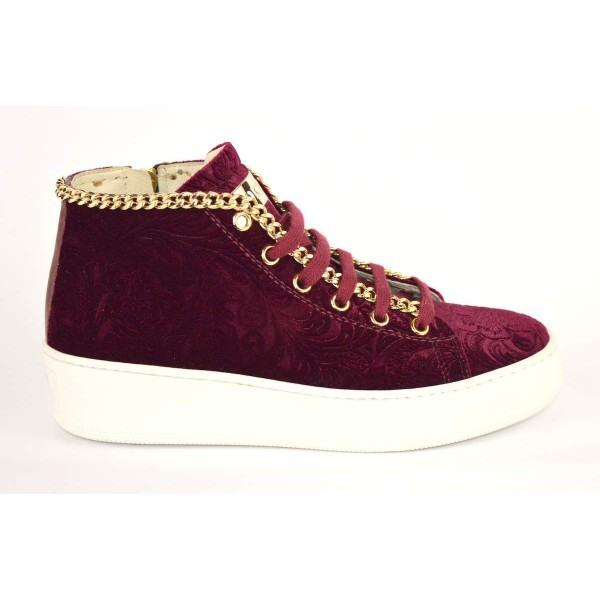 Stokton Sneakers Alta Catena Bordo` Fondo gomma